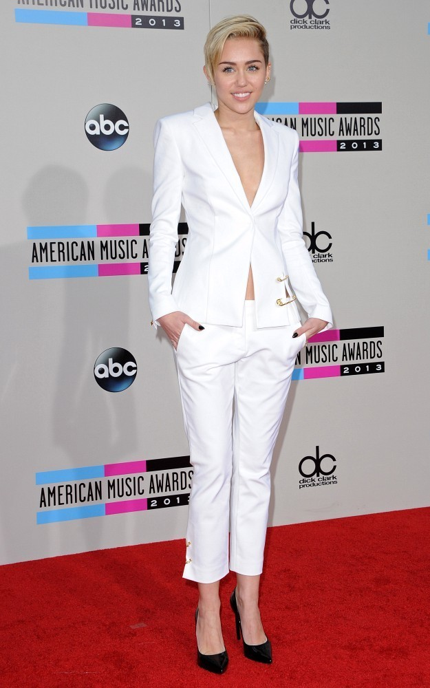 Red carpet arrivals at the 2013 American Music Awards at the Nokia Theatre L.A. Live in Los Angeles on November 24, 2013. Pictured: Miley Cyrus.