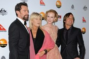 2013 G'Day USA Los Angeles Black Tie Gala..JW Marriot at L.A. Live, Los Angeles, CA..January 12, 2013..Job: 130112A1..(Photo by Axelle Woussen)..Pictured: Hugh Jackman, Deborra-Lee Furness, Nicole kidman and Keith Urban.