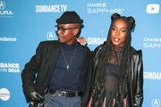 Ashton Sanders and KiKi Layne are seen attending the 'Native Son' Premiere during the 2019 Sundance Film Festival at Eccles Center Theatre in Park City, Utah.