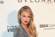 Romee Strijd is seen arriving to the 26th Annual Elton John AIDS Foundation's Academy Awards Viewing Party held at West Hollywood Park in Los Angeles, California.