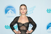 Olesya Rulin is seen arriving at the 9th Annual Thirst Gala at The Beverly Hilton Hotel in Los Angeles, California.