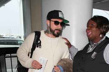 A.J. McLean Aj Mclean Is Seen at LAX