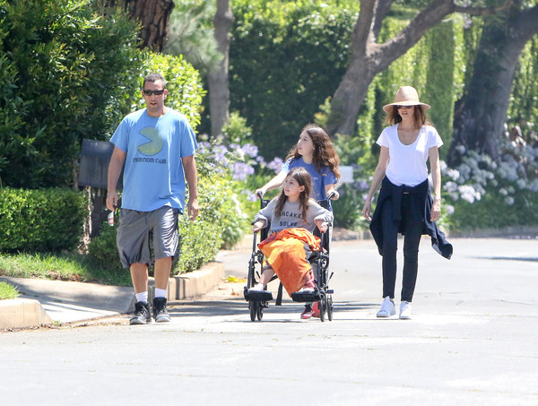 Adam Sandler Has a Family Walk