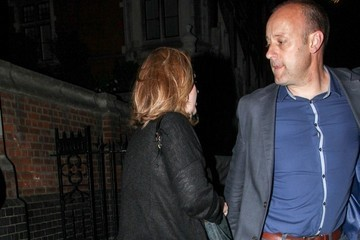Adele Adele and Simon Konecki at Chiltern Firehouse