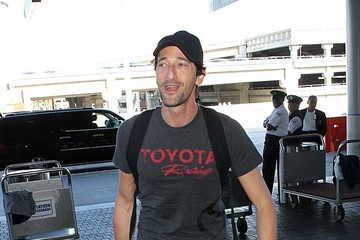 Adrien Brody Adrien Brody Arrives at LAX