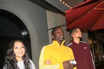 Akon Akon Outside Craig's Restaurant in West Hollywood