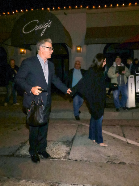 Alec Baldwin Outside Craig's Restaurant In West Hollywood