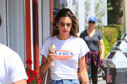 Alessandra Ambrosio's ice cream outing with her ex-fiance and kids