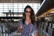 Alessandra Ambrosio Spotted at LAX