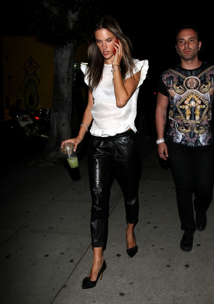 Alessandra Ambrosio Out Late in Hollywood