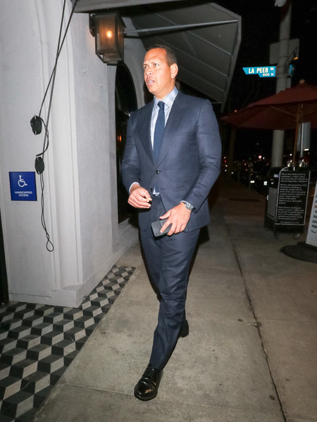 Alex Rodriguez Outside Craig's Restaurant In West Hollywood