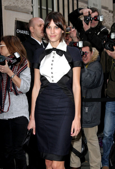 Alexa Chung Arrivals for the Chanel Haute Couture fashion show Spring-Summer 2011.