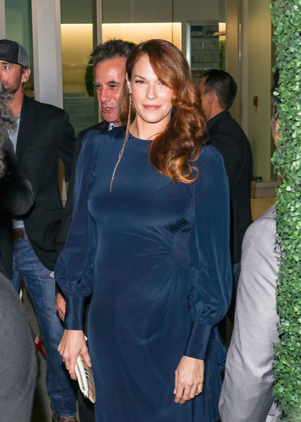 Amanda Righetti And Adrian Pasdar Outside ArcLight Theatre In Hollywood