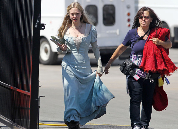 "Amanda Seyfried The cast of  Catherine Hardwicke's ""Red Riding Hood"" wear their costumes around the set in between takes."