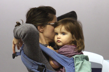 Frances Pen Benioff Amanda Peet with her Baby