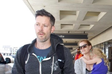 Amy Adams Amy Adams and Family at LAX