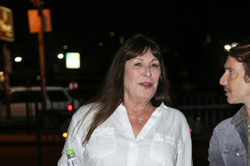Anjelica Huston Celebrities Are Seen Arriving to the Premiere at Arena Cinemas