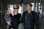 Anna Paquin and Family at LAX