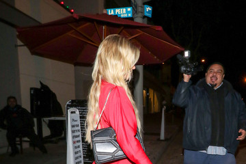 AnnaLynne McCord AnnaLynne McCord Outside Craig's Restaurant In West Hollywood