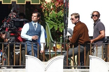 Armie Hammer Henry Cavill 'The Man from U.N.C.L.E.' Films in Rome