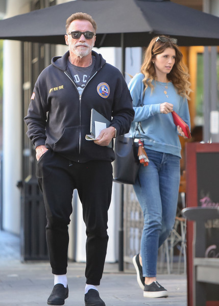 Arnold Schwarzenegger out and about with daughter Katherine