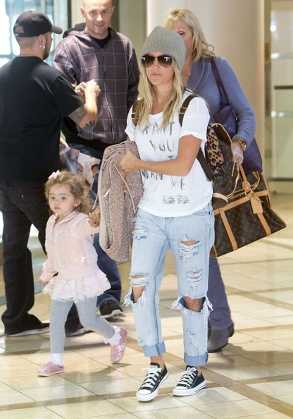 Ashley Tisdale and Family at LAX
