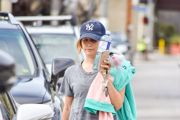 Ashley Tisdale Ashley Tisdale Sports a Yankees Cap