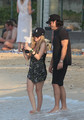 Avril Lavigne spends the Holiday Season in St Barth with her new boyfriend.