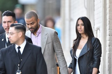Axelle Francine Tony Parker Heads to 'Jimmy Kimmel Live!' — Part 2