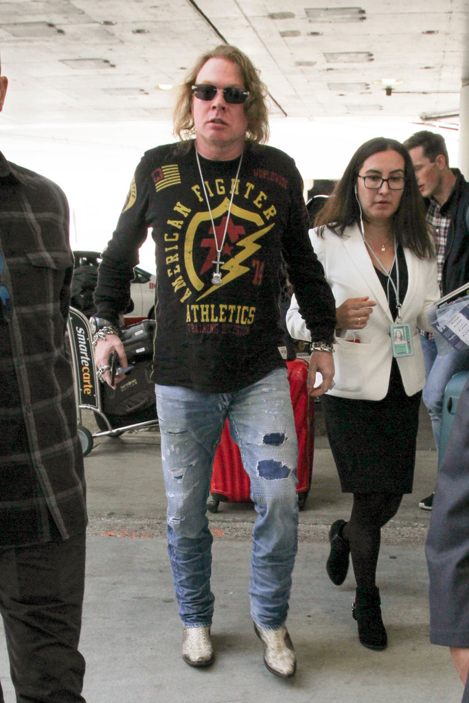 axl rose in axl rose is seen at lax zimbio
