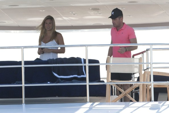 Bar Refaeli - Bar Refaeli and David Fisher on a Yacht