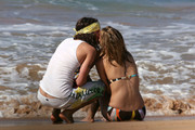 Mischa Barton and her new boyfriend, Cisco Adler, spend a few Thanksgiving days at the Four Seasons in Maui.  Cisco, famous for his musician father, Lou Adler, and his butt crack, can't keep his hands off Mischa's svelt bikini-clad body.  The couple are obviously enjoying each other in Hawaii.
