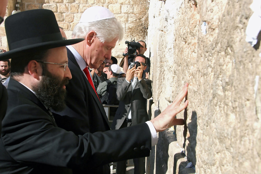 Bill Clinton In Bill Clinton Visits The Wailing Wall Zimbio