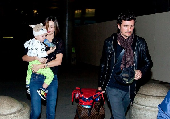 Saturday: Miranda Kerr, Orlando Bloom, and Flynn