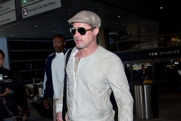 Brad Pitt Brad Pitt Arrives at LAX