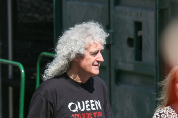Brian May Brian May Appears on the Set of 'Jimmy Kimmel Live'