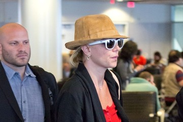 Britney Spears Britney Spears and Zoe Saldana at LAX
