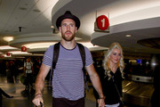Brooks Laich and Julianne Hough are seen at LAX in Los Angeles, California on Feb. 7, 2018.