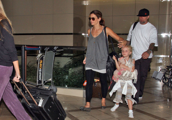 Sandra Bullock and Her Family at LAX 2 - Zimbio