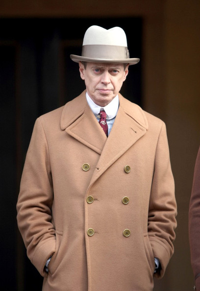 "Steve Buscemi films a scene for ""Boardwalk Empire"" in Brooklyn."