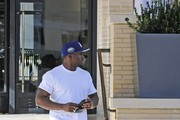 Reggie Bush is seen out and about in Los Angeles.