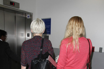 Busy Philipps Celebs Travel Through LAX