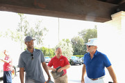 Byron Scott And Kelsey Grammer Outside Lakeside Golf Club