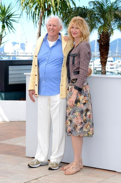 The stars of 'Nebraska' pose at a photo call during the 66th Annual Cannes Film Festival on May 23, 2013. Pictured: Bruce Dern with his daughter Laura Dern.