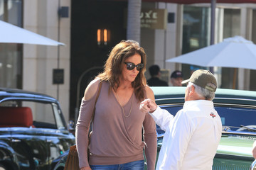 Caitlyn Jenner Caitlyn Jenner Attends a Car Show With a Puppy
