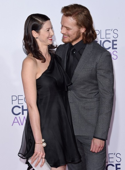 Sam heughan and caitriona balfe arrivals at the people s choice