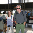 Calista Flockhart Harrison Ford and Calista Flockhart Are Seen at LAX