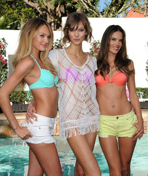 Karlie Kloss and Candice Swanepoel - Victoria's Secret Angels Promote New Collection