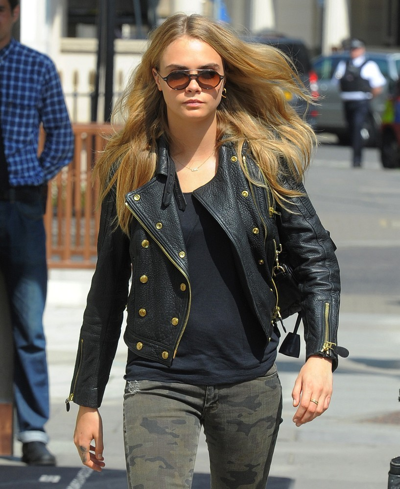 Cara Delevingne Gets Down to Business