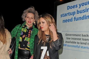 Caroline Flack Celebs Enjoy a Late Night Out